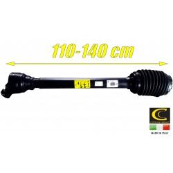 Wałek przekaźnika mocy WOM 460 Nm+sprzęgło jednokierunkowe - PRAWE 100cm,Harmonijka